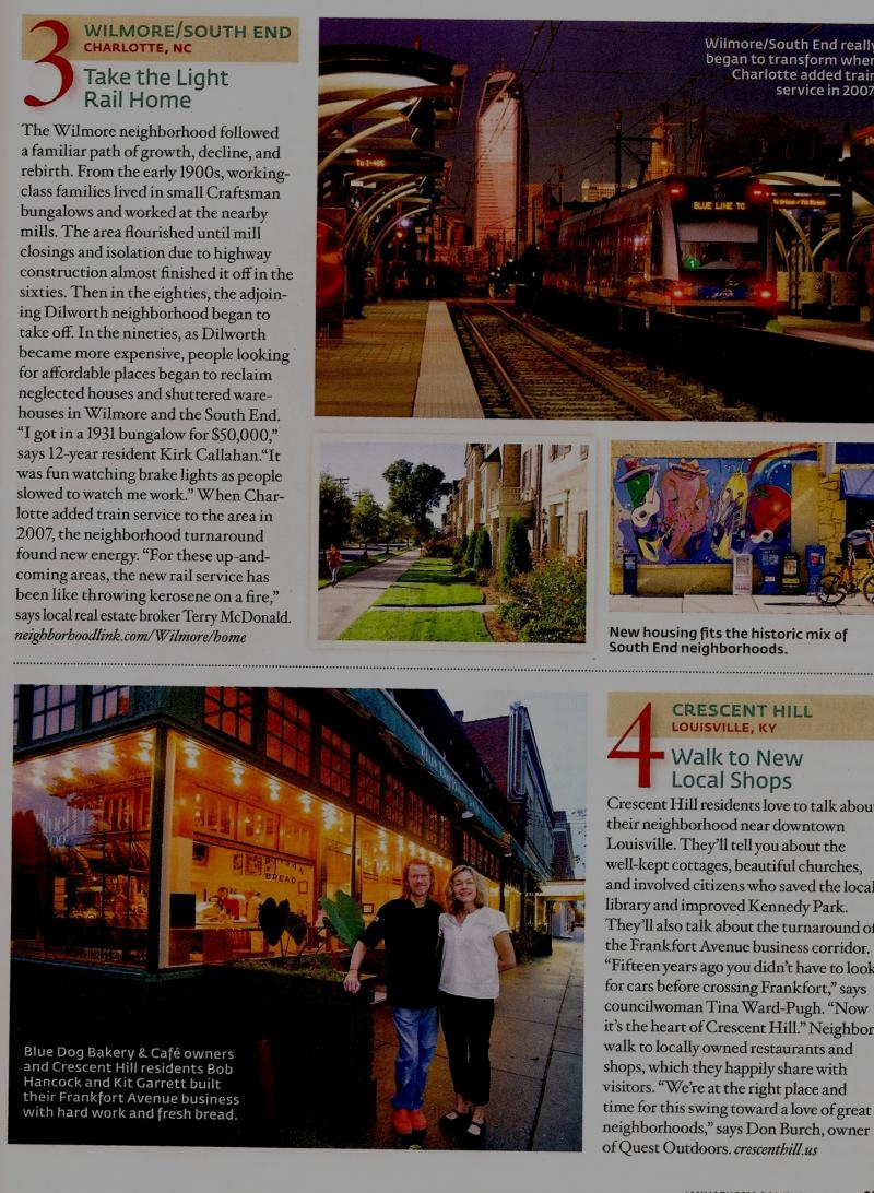 Article about Wilmore / Southend South End in Southern Living, Lindsley